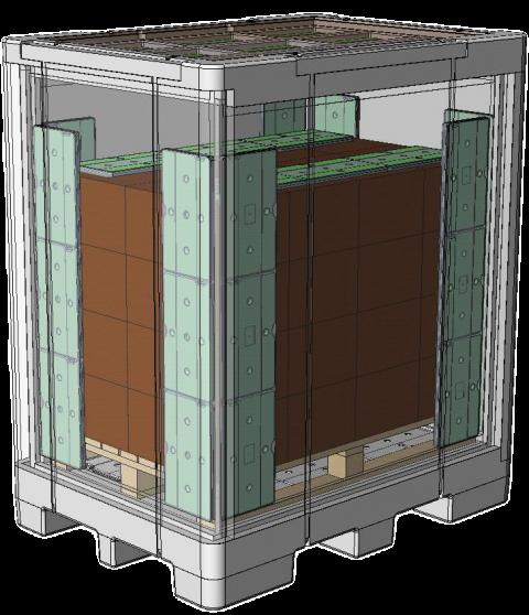 Case study - delta T Pallet Shipper - sketch
